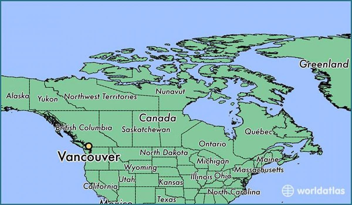 Vancouver Kanada Kartta Kartta Kanada Nayttaa Vancouver British
