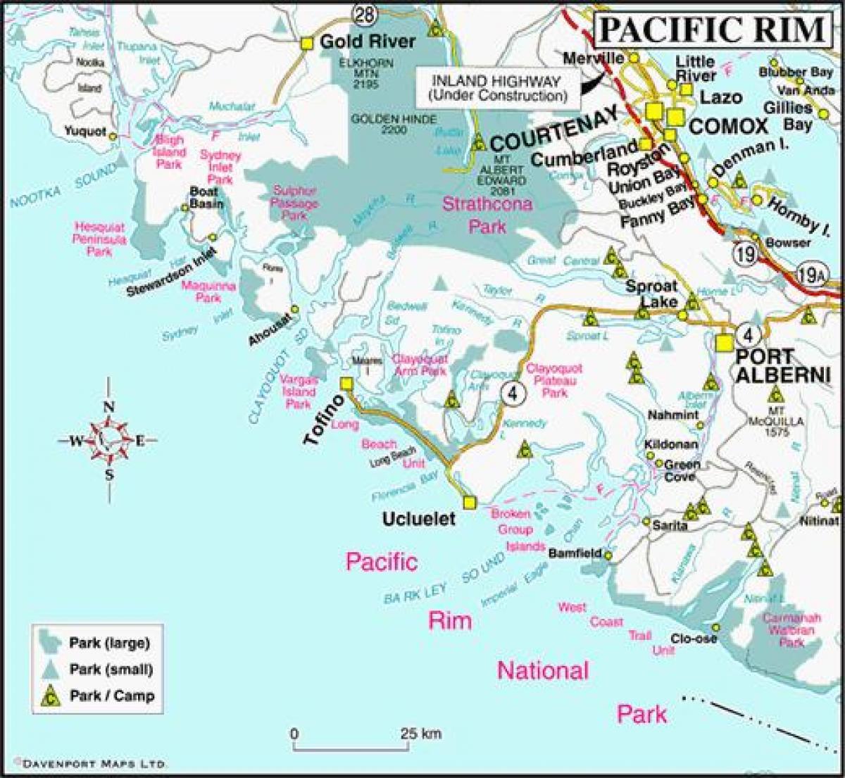 West Coast Kanada Kartta Kartta West Coast Kanada British